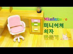 Miniature desk chair on wheels tutorial