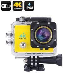 4K Wi-Fi Waterproof Action Camera (Yellow) K484-CVAGC-DV124-Yellow