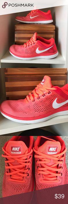 the latest 694db 42fa9 Nike Flex 2016 Run Shoes - Coral Nike 2016 Flex Run shoes in an eye-
