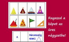 Mi az, ami háromszög alakú? Nyomtatható lapozó játék a formafelismerés fejlesztéséért. http://jatsszunk-egyutt.hu/formak-nyomtathato-lapozo-konyv/