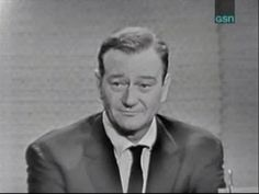 What's My Line? - John Wayne; Joey Bishop [panel] (Nov 13, 1960) What a great, humble man. Love The Duke!!