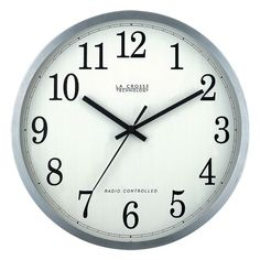La Crosse Technology Atomic Wall Clock, Multicolor