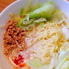 スープはなんちゃってモノですが美味しく食べられました - 23件のもぐもぐ - ナンチャッテ担々麺 by SKA