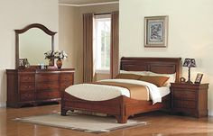 Brand new Lorenzo - Cherry Bedroom Set - Bedroom Sets from Winners Only. Crowley Furniture is Kansas City's family owned furniture store for over 60 years. Bedroom Furniture Sets, Large Furniture, Bedroom Sets, Furniture Design, Bedrooms, Master Bedroom, Dream Bedroom, Furniture Ideas, Furniture Layout