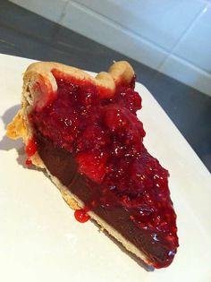 Raspberry Chocolate Ganache Pie at Pacific Pie Company (Portland, OR). #UniqueEats #pie