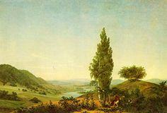 Caspar David Friedrich — Der Sommer, Landschaft mit Liebespaar (The Summer, Landscape with Lovers) — 1807