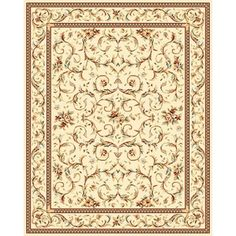 Safavieh Lyndhurst Collection Traditional Ivory/ Ivory Rug (8' Square) - Overstock Shopping - Great Deals on Safavieh Round/Oval/Square