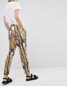 ASOS Made In Kenya Satin Pull On Pant in Tropical Floral Print - Multi Pull On Pants, Kenya, Afro, Parachute Pants, Bae, Harem Pants, Floral Prints, Tropical, Satin