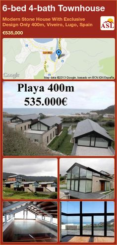 Townhouse for Sale in Modern Stone House With Exclusive Design Only Viveiro, Lugo, Spain with 6 bedrooms, 4 bathrooms - A Spanish Life 400m, Complete Bathrooms, Large Shower, Built In Wardrobe, The Province, Wine Cellar, Beautiful Beaches, Townhouse, Terrace