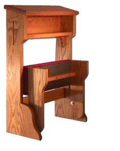 I love these simple prayer kneelers (prie dieu)... Perhaps we have lost the art of kneeling before God?