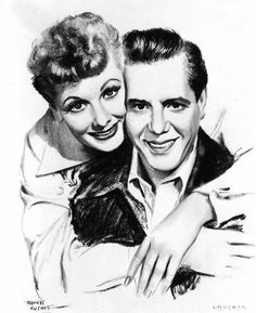 Lucille Ball and Desi Arnaz by Morr Kusnet I Love Lucy Show, My Love, Vivian Vance, Queens Of Comedy, Lucille Ball Desi Arnaz, Celebrity Drawings, Celebrity Caricatures, Great Love Stories, Famous Couples