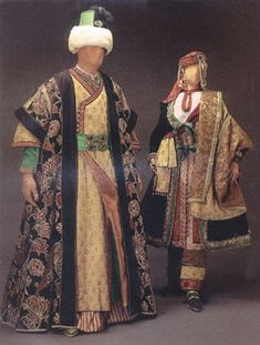 """Costume for Andronico and Irene, Act I, Handel's opera, """"Tamerlano"""", 1995 Glimmerglass production, designed by theatrical designer, Judy Levin. """"Inspired by"""", NOT period clothing."""