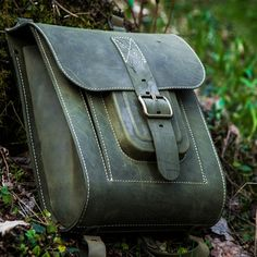 """This backpack is handcrafted of finest quality full grain bovine leather. In the backpack there is one large main compartment (fits 15.6"""" laptop, no lining); - pink leather inside pocket; - two formed"""