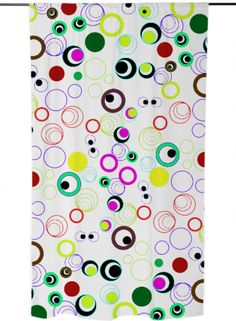 Silly Circle Eyes created by  #gravityx9 | #PrintAllOverMe  #PAOM #CURTAIN   #circles
