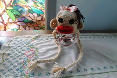 Crochet Sock Monkey Hat by raleyfamilysfarm on Etsy, $17.00