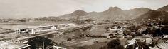 Kai Tak airport-RAF base-1935-panorama Kai Tak Airport, Raf Bases, British Hong Kong, Paris Skyline, Nostalgia, Hotels, Old Things, Memories, History