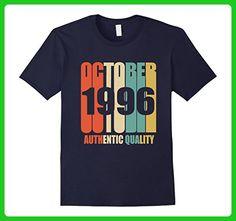 Mens Retro October 1996 T-Shirt 21 yrs old Bday 21st Birthday Tee Large Navy - Retro shirts (*Amazon Partner-Link)