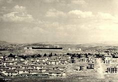 Bahçelievler,1954. The name means 'houses with gardens'.  View of Anıtkabir, the mausoleum of Mustafa Kemal Atatürk,  Çankaya , Ankara, Turkey.