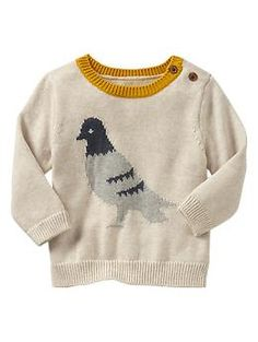 GAP - Pigeon sweater. So cute, and perfect for our photoshoot.