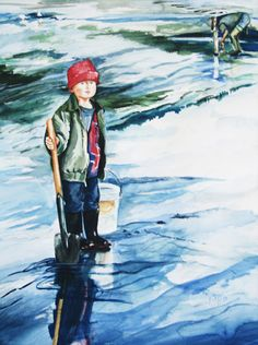 Little Boy Blue Signed Print from Original Watercolor by bouldnart