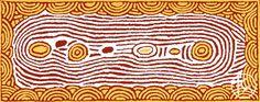 """Women's Dreaming"" by Narrabri Nakamarra 155cm x 65cm $4,400  http://www.aboriginalartstore.com.au/artists/narrabri-nakamarra/womens-dreaming-2/"