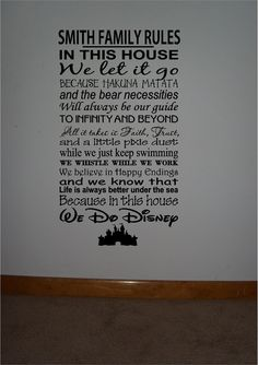 Wooden 12x24 sign w vinyl quote..We Do Disney famous movie quote subway STYLE 2