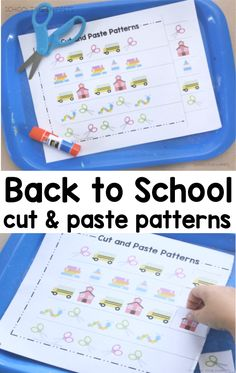 Make patterns with these colorful cut and paste math worksheets Math Activities For Kids, Number Activities, Math For Kids, Fun Math, Cut And Paste Worksheets, Math Worksheets, Math Patterns, How To Teach Kids, Early Math