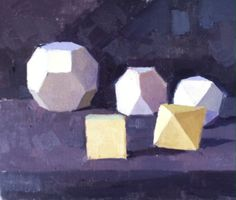 #Spackman#oil painting #still-life #geometric models made by #Patrick Symons.