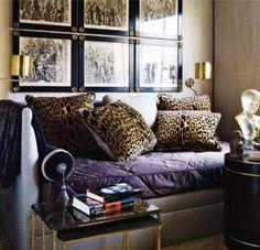 A little leopard and purple; fabulous
