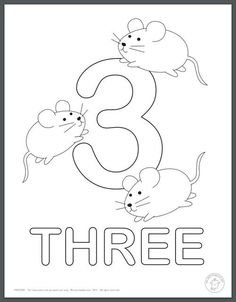 Nice collection of colouring pages of the numbers 1 to 10