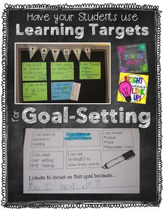 Student Goal Setting based on Learning Targets (Growing Firsties) Student Data Tracking, Student Goals, Goal Tracking, Learning Targets, Learning Goals, Student Learning Objectives, Kids Learning, Teaching Strategies, Differentiation Strategies