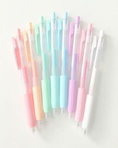 Melodious —- cute collecting of gel pens, bonus if they have scent cute stationery Back To School Supplies For Teens, Cool School Supplies, School Supplies Highschool, School Stationery, Cute Stationery, Stationary Gifts, Tattoo Papier, School Suplies, Cute Pens