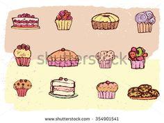 Bakery sketch set