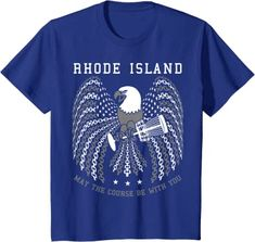 Amazon.com: May The Course Be With You Rhode Island Disc Golf Eagle T-Shirt: Clothing Graphic Shirts, Printed Shirts, Branded T Shirts, Cool Tees, Cool T Shirts, Gifts For Golfers, Golf Gifts, Best Tank Tops, T Shirts With Sayings