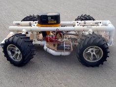 Build a PVC and pegboard RC car with a drill-drive - from scratch