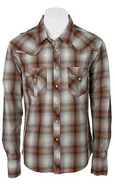Rock & Roll Cowboy Men's L/S Western Snap Shirt B2S2254 | Cavenders Boot City