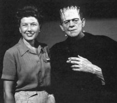 Boris Karloff and his wife Evelyn (m.1946–1969; his death)