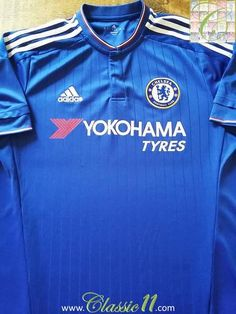 Relive Chelsea s 2015 2016 season with this original Adidas home football  shirt. Chelsea Football 24f40f7df