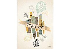 fantastisch 'My City Two' poster 30x40cm Michelle Carlslund Illustration | kinderen-shop Kleine Zebra