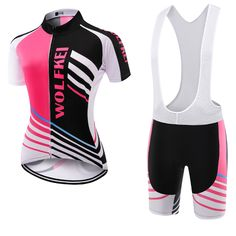 Wolfkei Mountain bike Cycling Jersey Bib Shorts kit for women Ropa Ciclismo bicicletas maillot ciclismo Breathable Sportswear Cycling Outfit, Cycling Clothing, Women's Cycling Jersey, Quick Dry, Mountain Biking, Wetsuit, Motorcycle Jacket, Sportswear, Fashion Looks