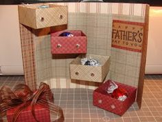 Father's Day Stair Stepper box very simple...see this blog for a tutorial