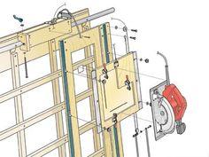 Panel Saw Kit Free Plans   ShopNotes Magazine - Sliding-Carriage Panel Saw