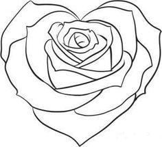 Мобильный LiveInternet Учимся рисовать - Сердце из розы | Sonya_kot - Мой маленький мир |