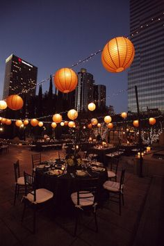 Nice idea for evening rooftop time!