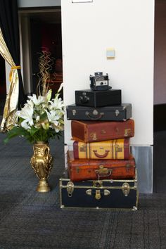 Old Suitcases add ambiance