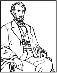 abraham lincoln hat coloring pages - photo#22