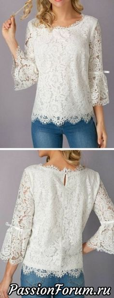 liligal blouse shirts top womenswear Source by clauveg Sewing Shirts, Sewing Clothes, Dress Sewing, Vetement Fashion, Lace Tops, Dress Patterns, Shirt Blouses, Blouse Designs, Beautiful Outfits