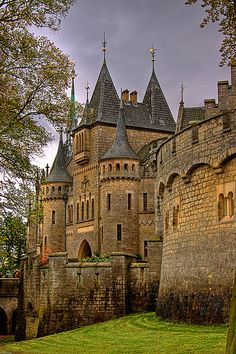 Medieval, Marienburg Castle in Hannover, Germany ..rh