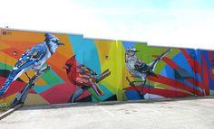 Cecilia Lueza - EFFULGENCE, Saint Petersburg FL, April 2017. A collaboration between artist Daas