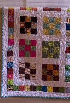 "9 patch quiltalong-2.5"" squares ORIGINAL TUTORIAL http://crazymomquilts.blogspot.com/2009/07/one-day-quilt-along-assembling-top.html"
